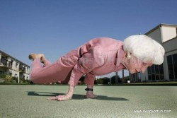 A fit old woman