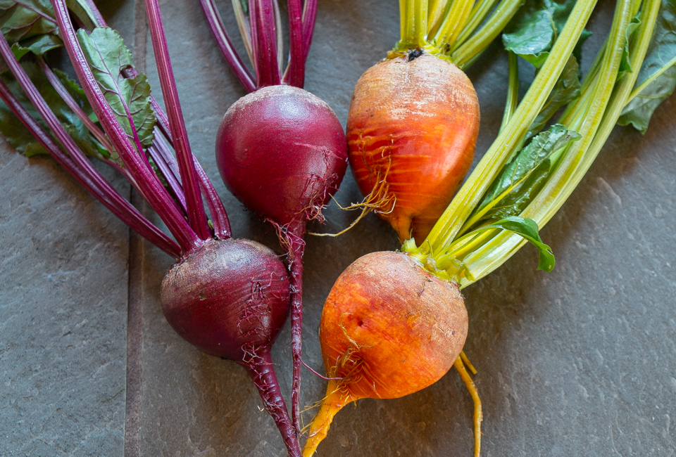 beets yellow and red